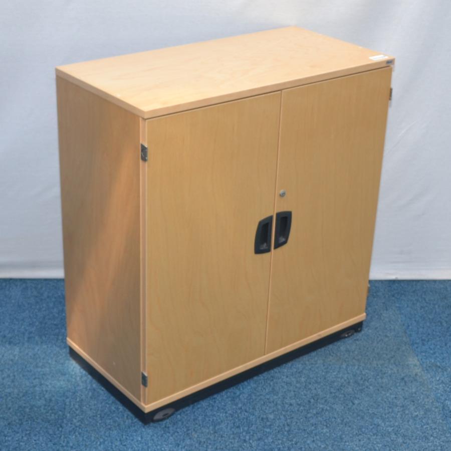 Kinnarps Maple Veneer 850H Storage Cupboard