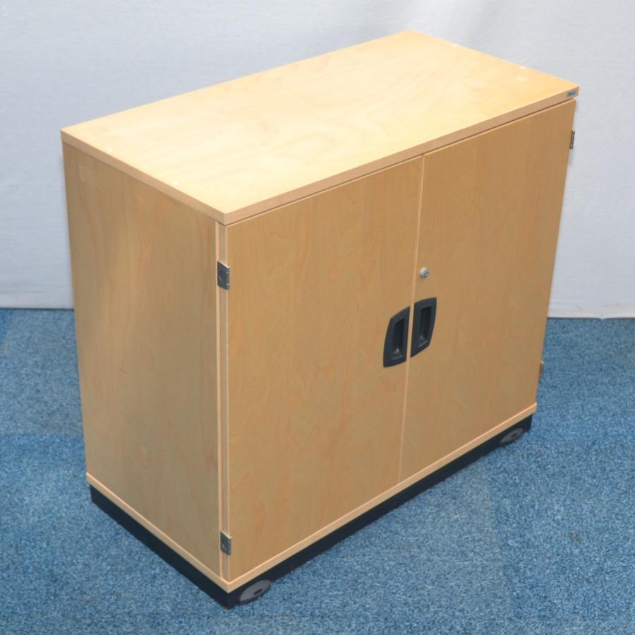 Kinnarps Maple Veneer 730H Storage Cupboard