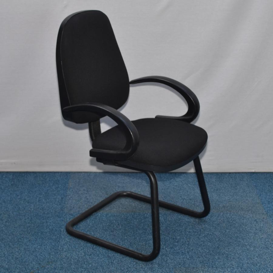 Black Cantilever Meeting Chair