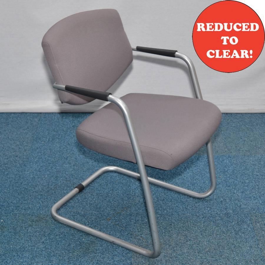 Silver Frame Cantilever Meeting Chair