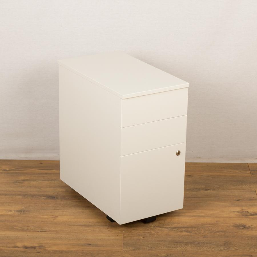 Senator White Slimline 3 Drawer Under Desk Pedestal