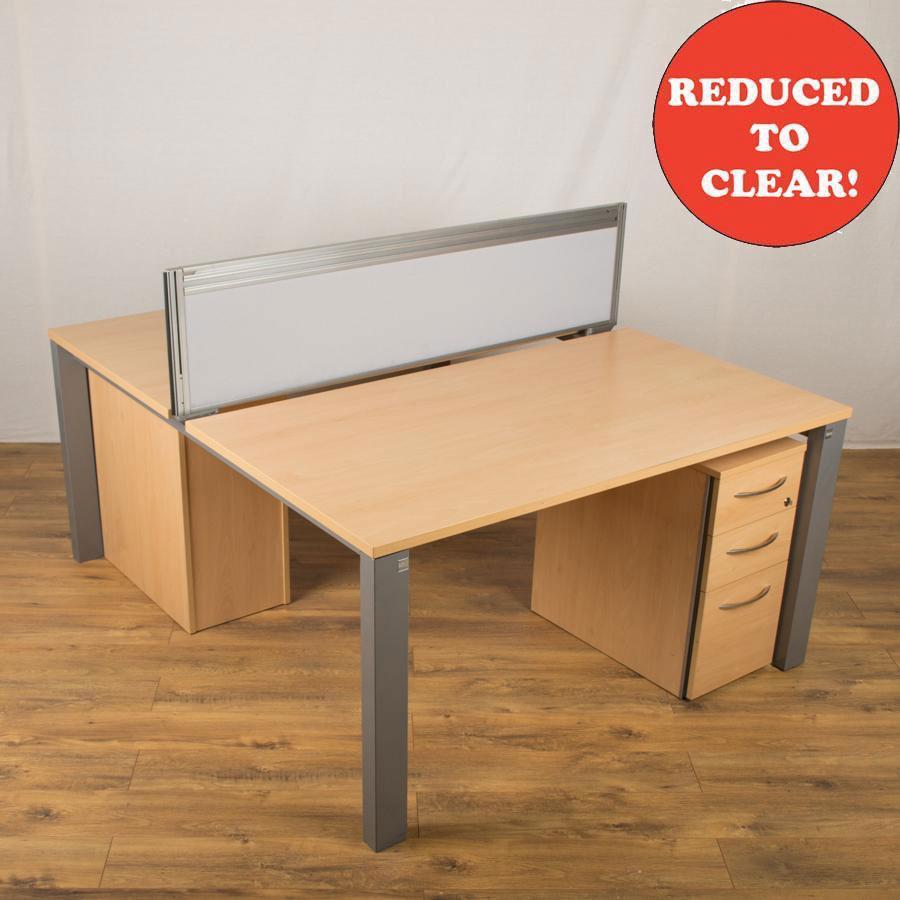 Sven Juice Beech 1400 Bench Desks