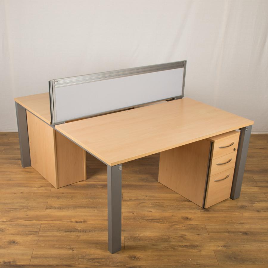 Sven Juice Beech 1400 Bench Desks