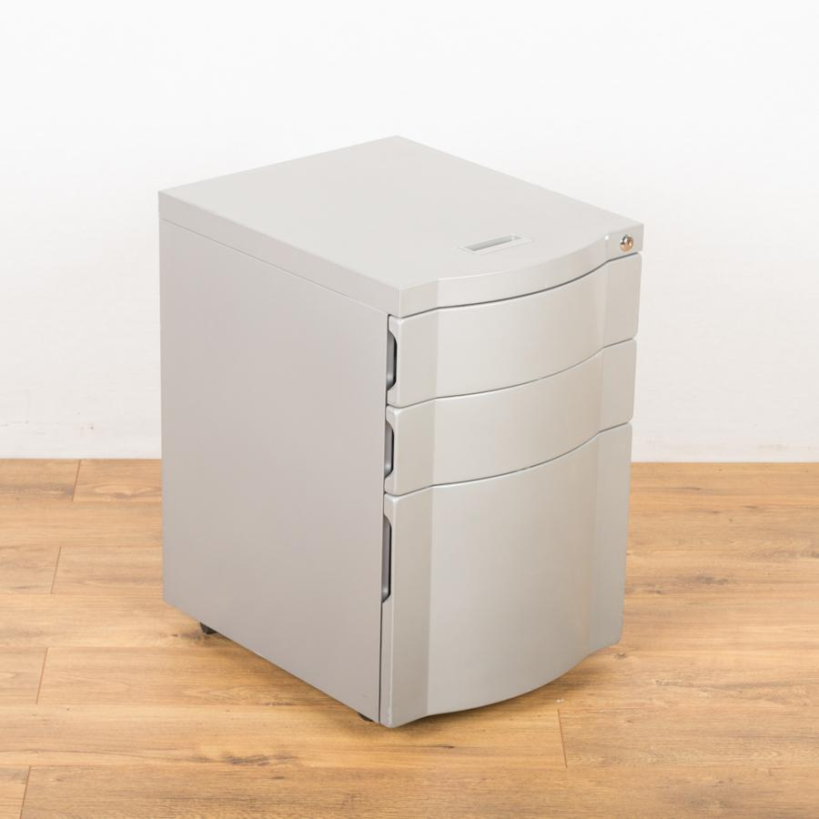 Silver 3 Drawer Under Desk Pedestal