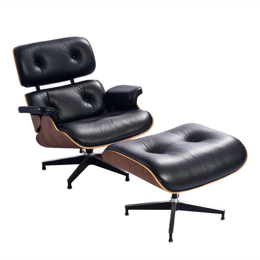 Vitra eames lounge chair ottoman replica for Eames vitra replica