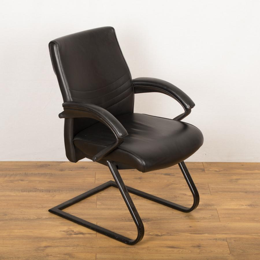 Black Leather Executive Meeting Chair