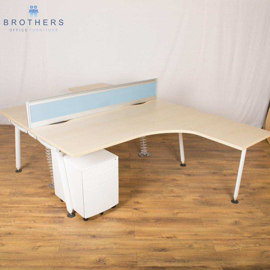 Herman Miller Abak 1800x1600 Corner Workstation