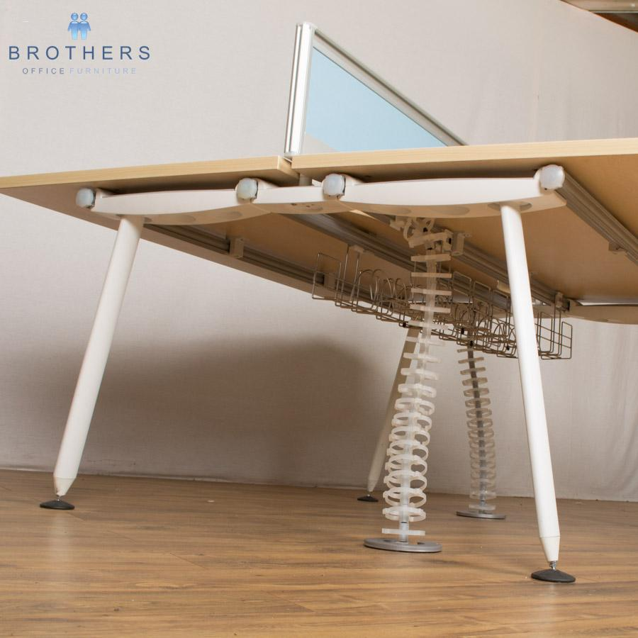 Herman Miller Abak 1600x800 Bench Desk