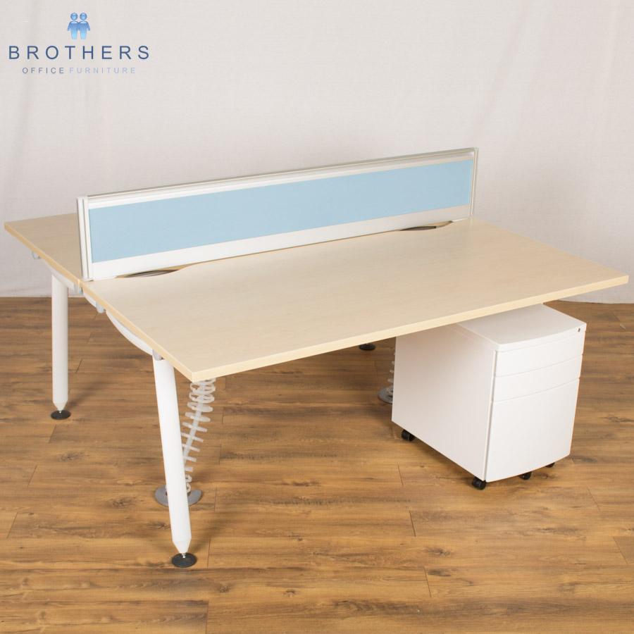 Herman Miller Abak 1600x800 Bench Desk