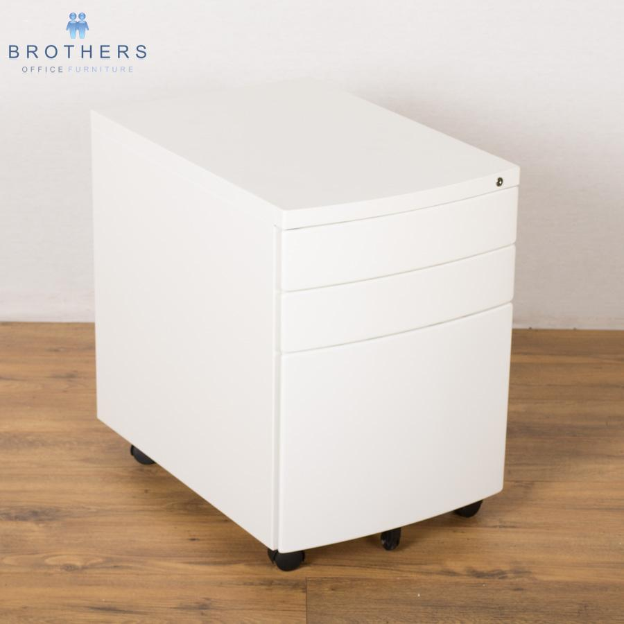 NEW White 3 Drawer Under Desk Pedestal