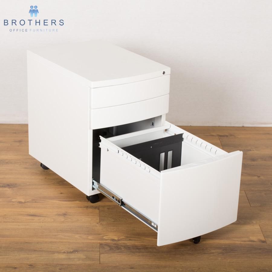 NEW White 3 Drawer Under Desk Pedestal