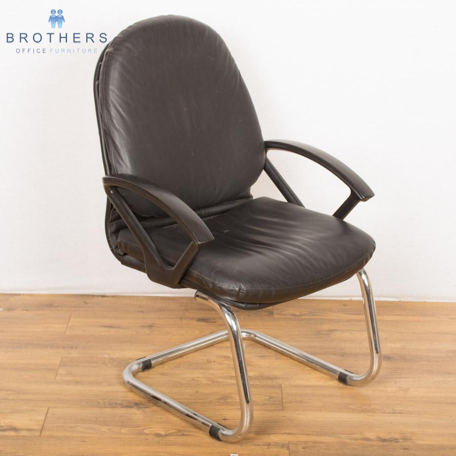 Chrome Cantilever Leather Meeting Chair