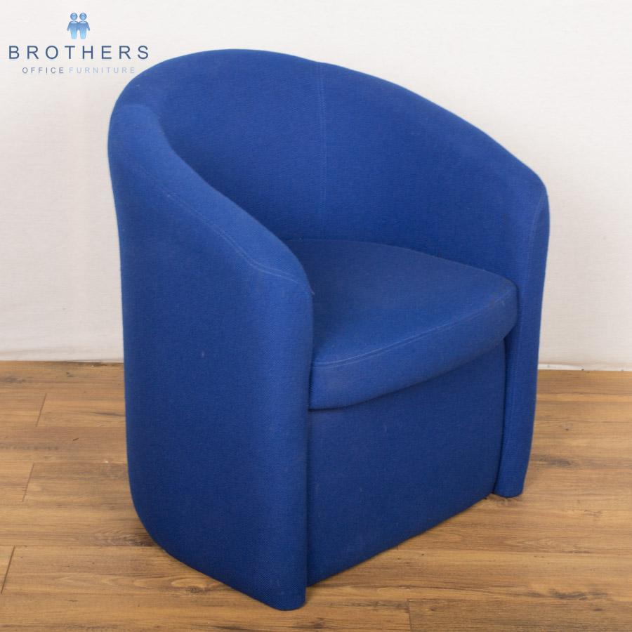 Blue Fabric Tub Chair