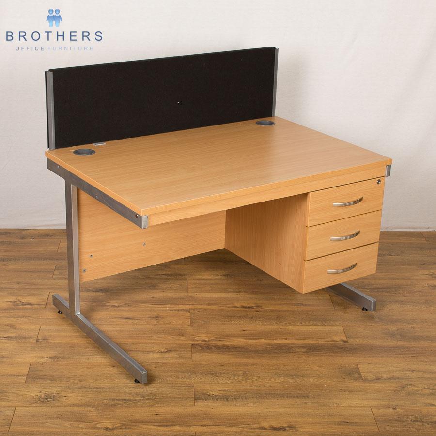 Beech 1200x800 Straight Workstation