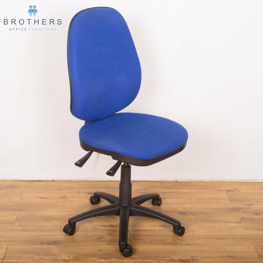 Blue 2 Lever Operators Chair