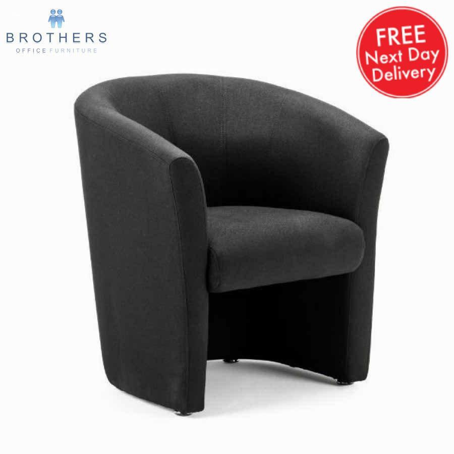 Neo Black Fabric Tub Chair