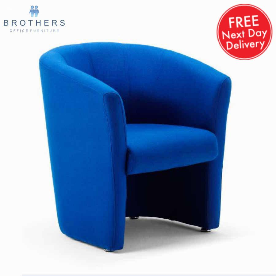 Neo Blue Fabric Tub Chair