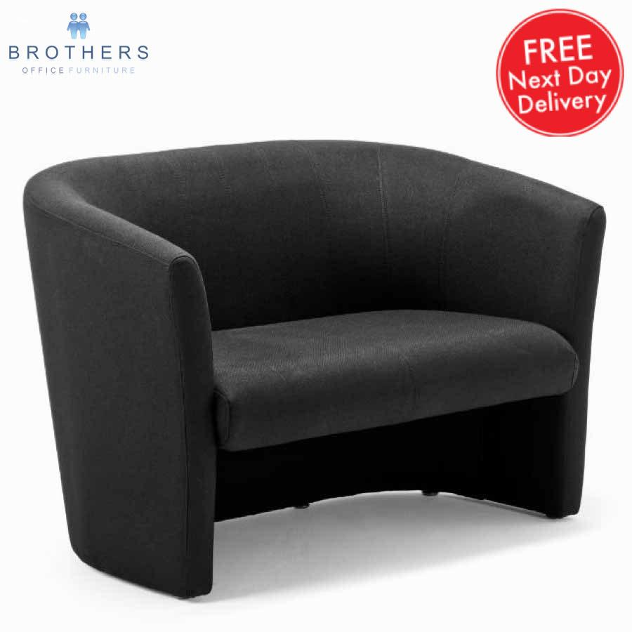 Neo Black Fabric Tub Sofa