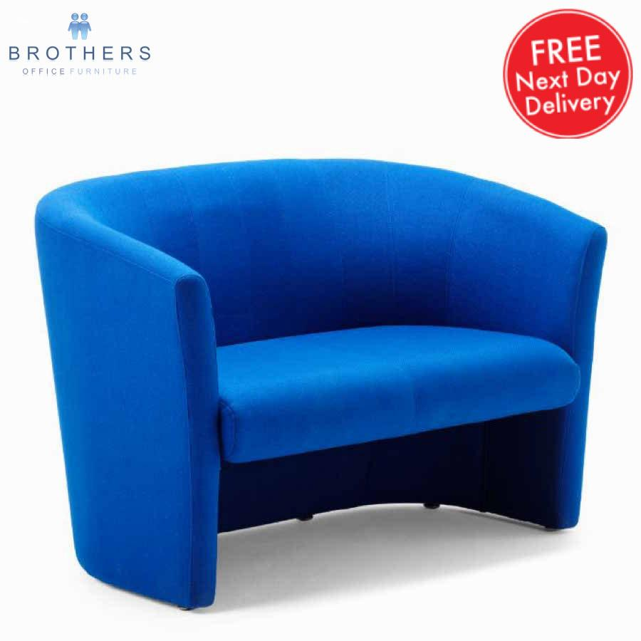 Neo Blue Fabric Tub Sofa