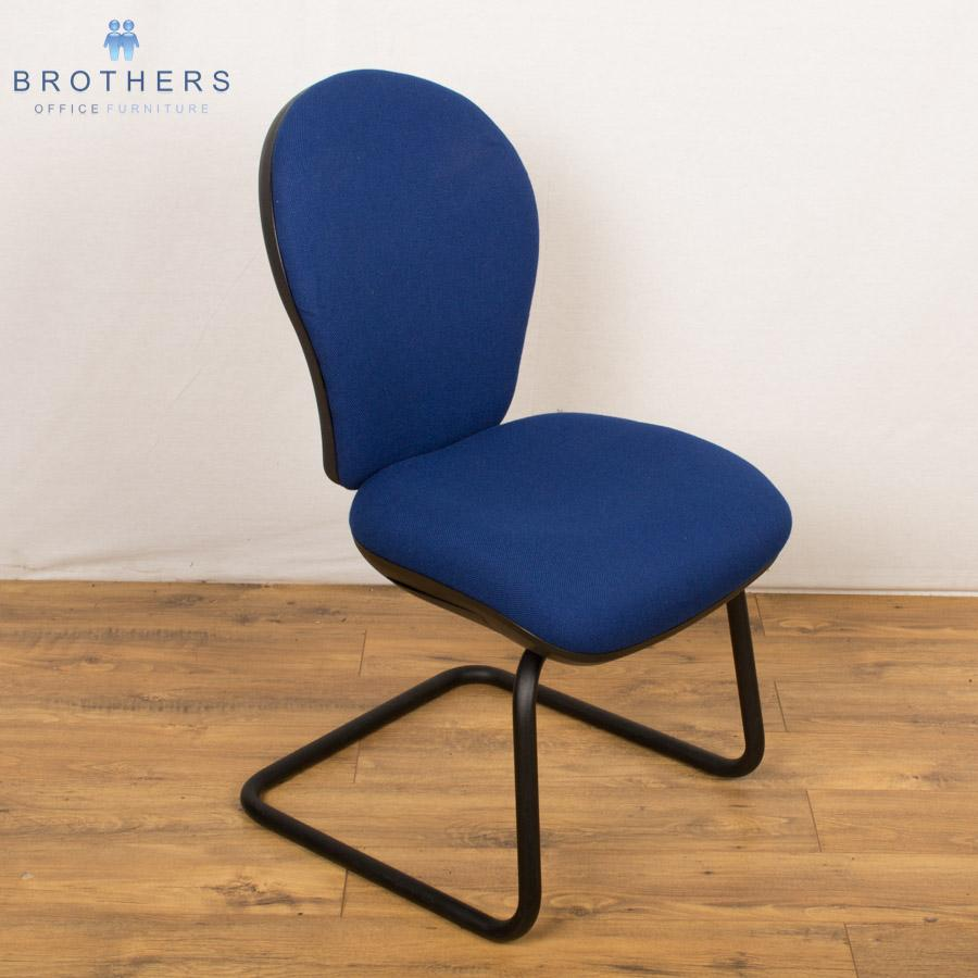Summit Blue Cantilever Meeting Chairs