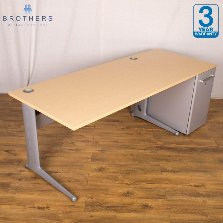 Office furniture uxbridge - Elite Kassini Ash 2000x800 Straight Workstation