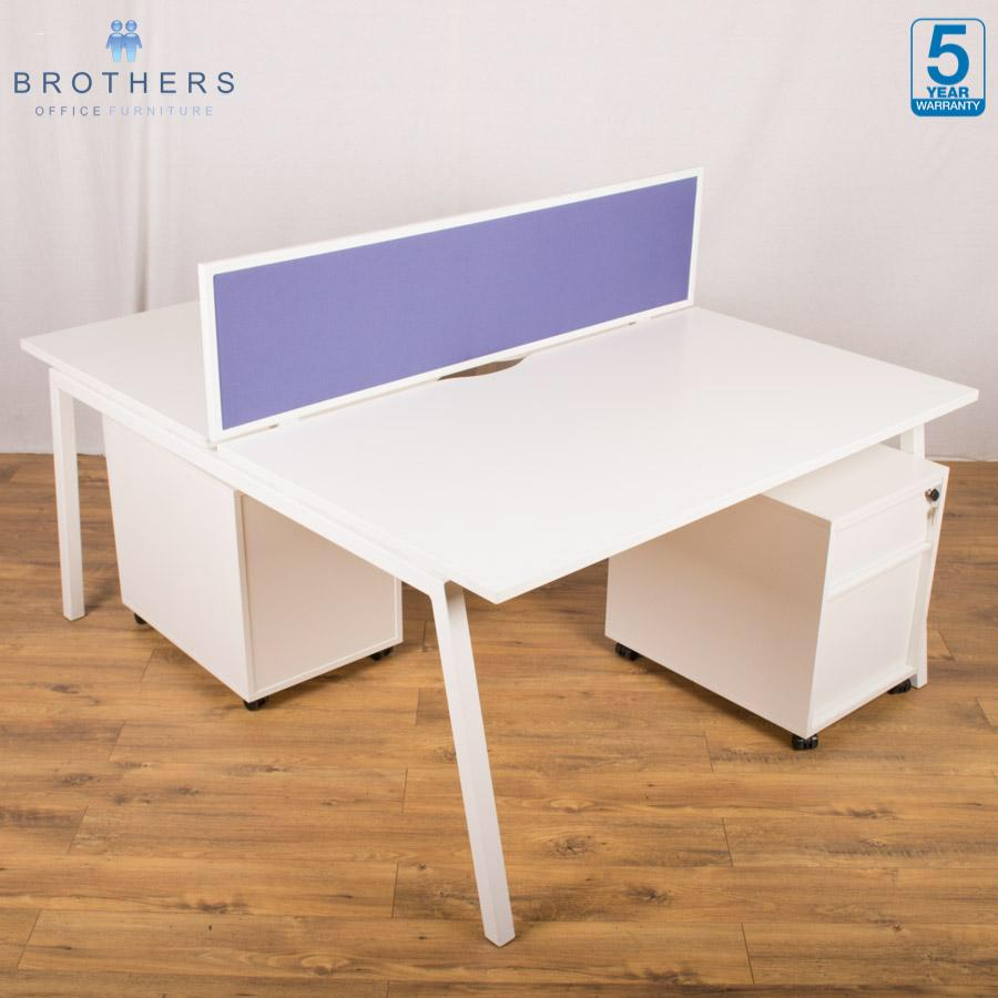 Fresh White 1400x800 Bench Desks