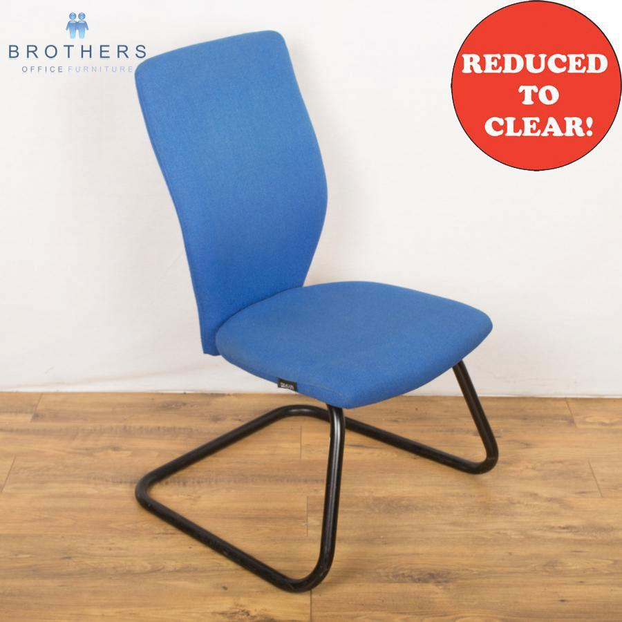 Paragon Blue Cantilever Meeting Chair