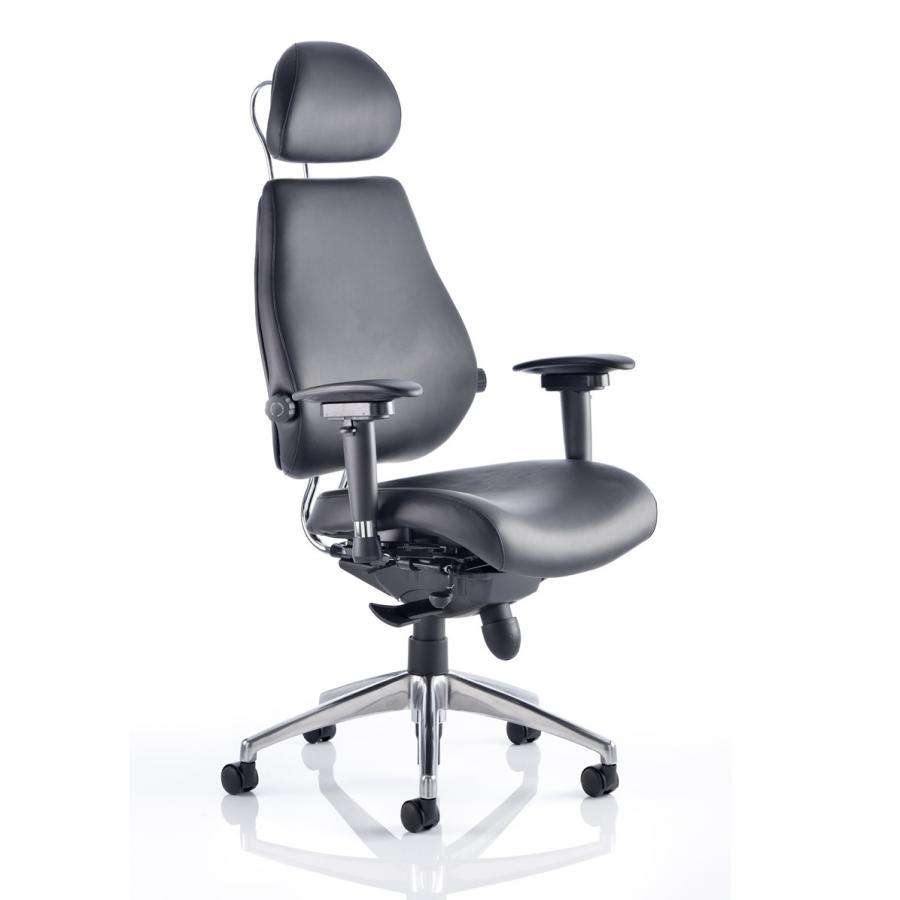 Chiro Plus Ultimate Leather with Headrest