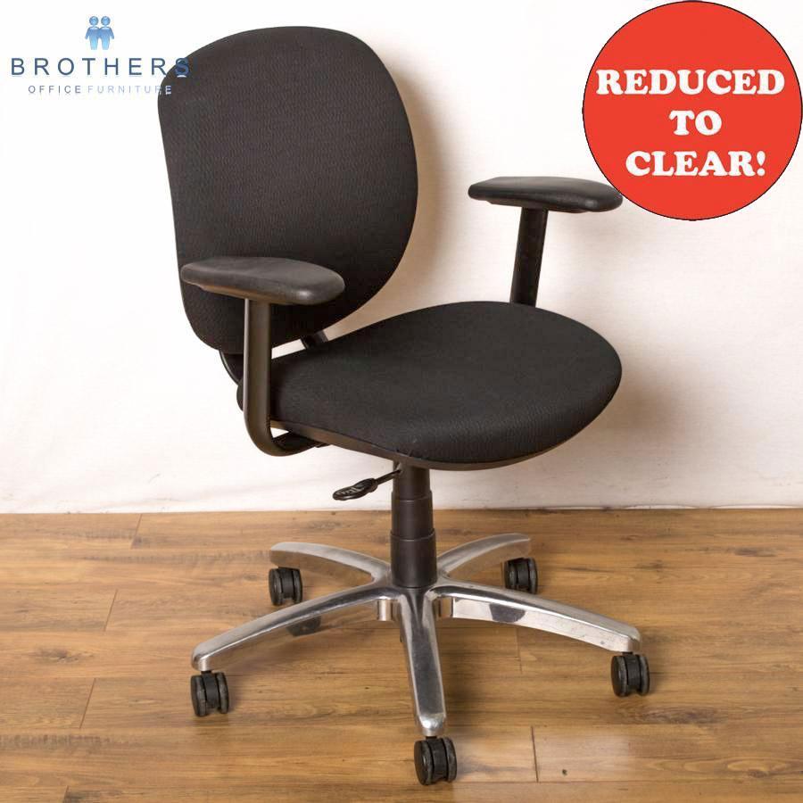 Allsteel Black Swivel Chair