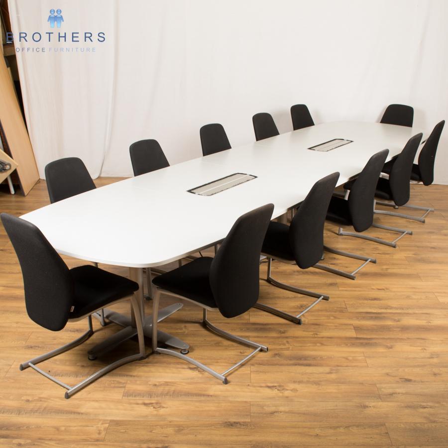 Kinnarps Light Grey 4400x1200 Boardroom Table
