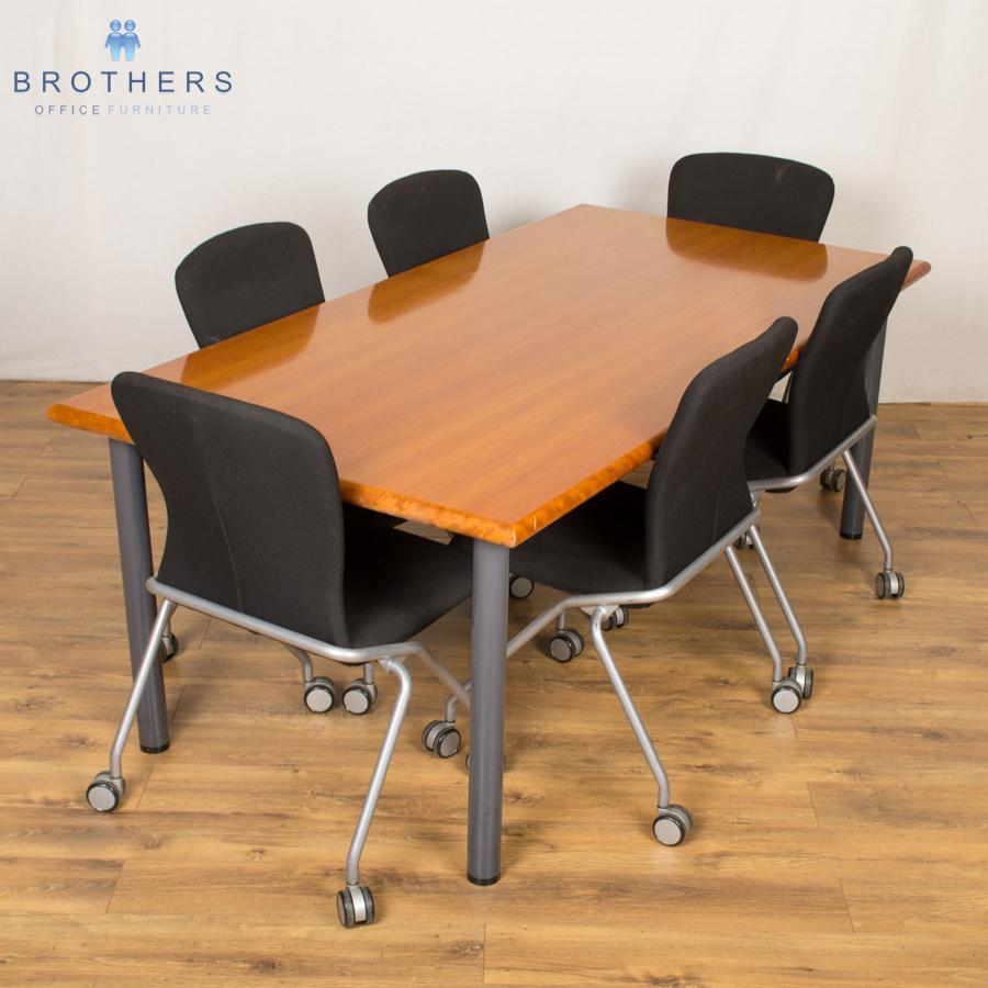 Manart Cherry Veneer 2000x1000 Meeting Table