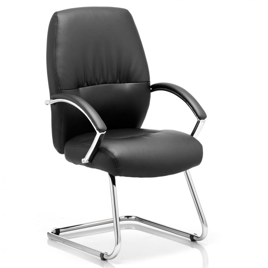 Dune Black Cantilever Meeting Chair