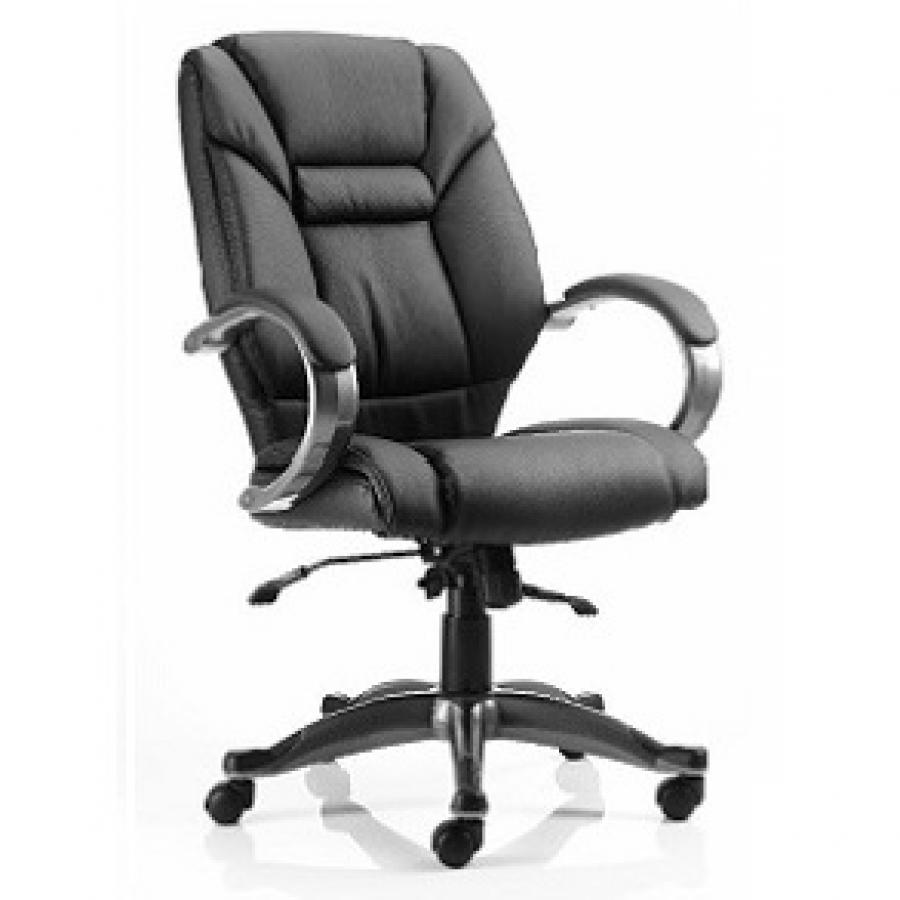 Galloway Black Leather Executive Chair