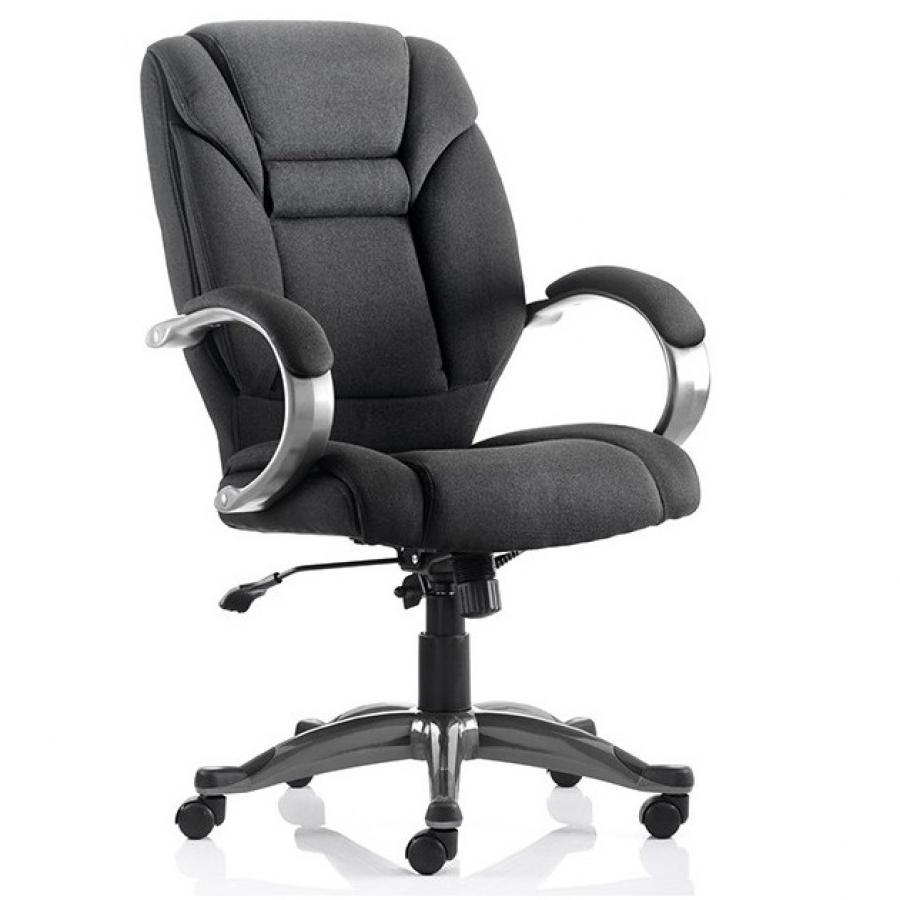 Galloway Black Fabric Executive Chair
