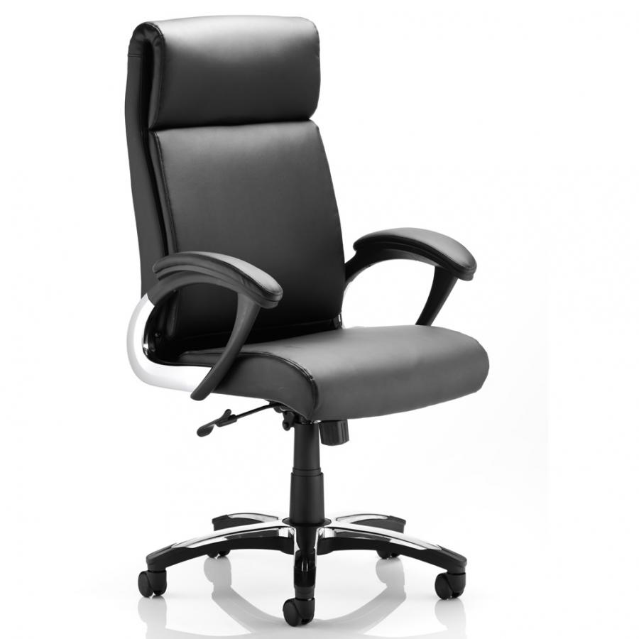Romeo Executive Folding Chair Black Leather