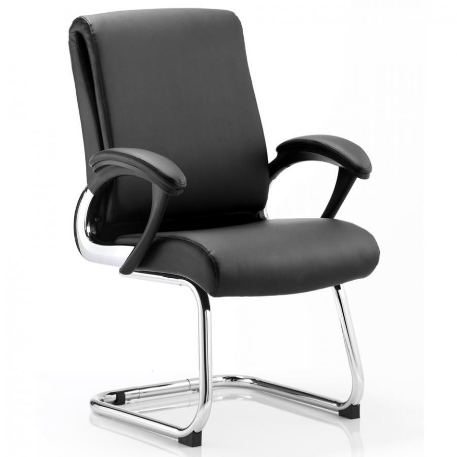 Romeo Cantilever Black Leather Chair
