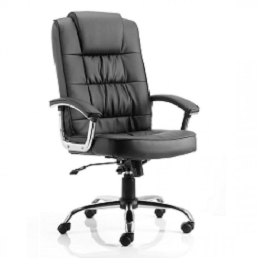 Moore Deluxe Black Leather Executive Chair