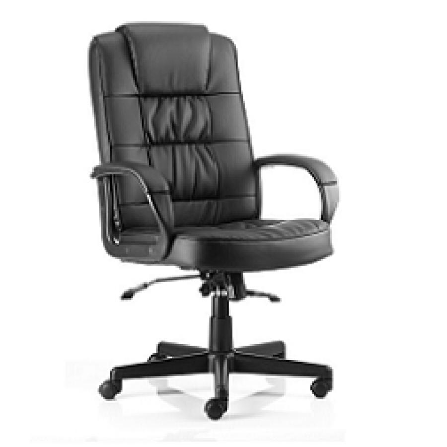 Moore Black Leather Executive Chair