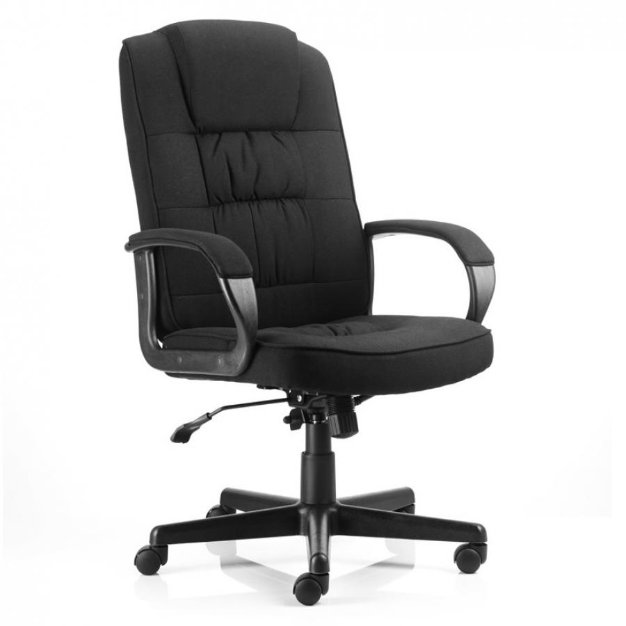 Moore Black Fabric Executive Chair