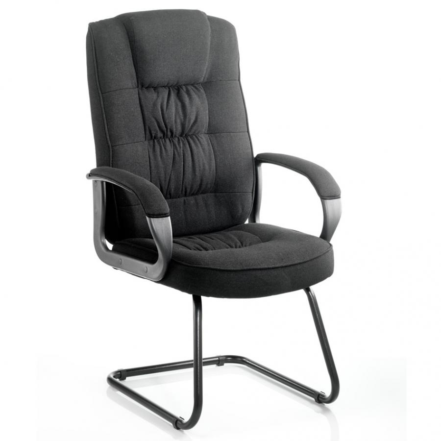 Moore Black Fabric Cantilever Chair
