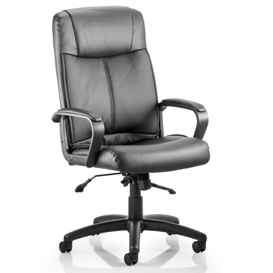 Plaza Black Bonded Leather Executive Chair