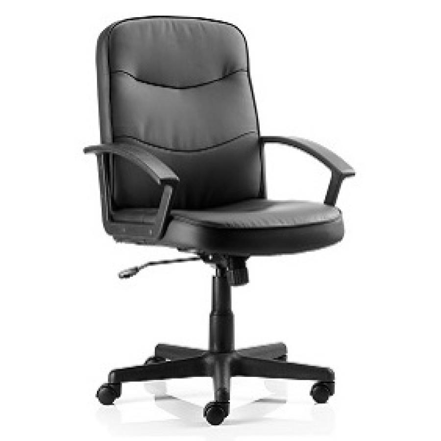 Harley Black Leather Executive Chair