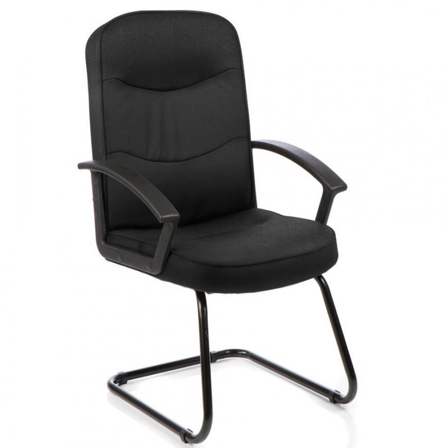 Harley Black Fabric Cantilever Chair