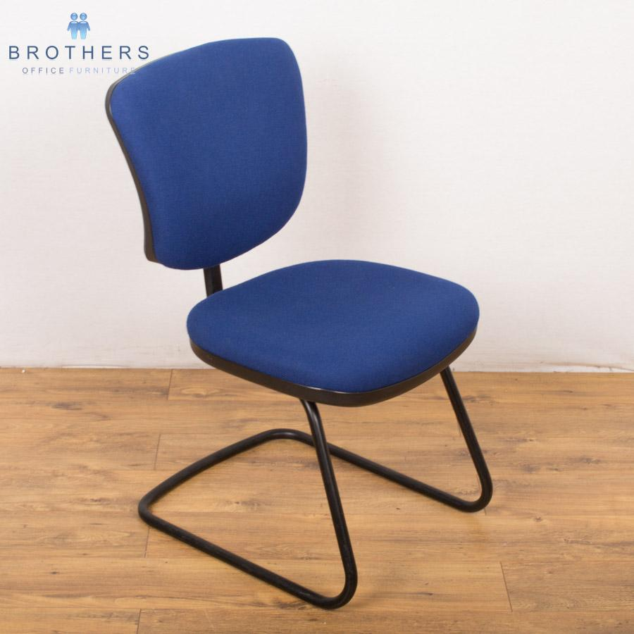 Orangebox LGF Blue Cantilever Meeting Chair