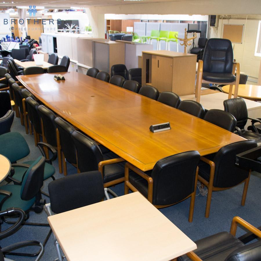 Office furniture uxbridge - Cherry Veneer 5400x1600 Boardroom Table