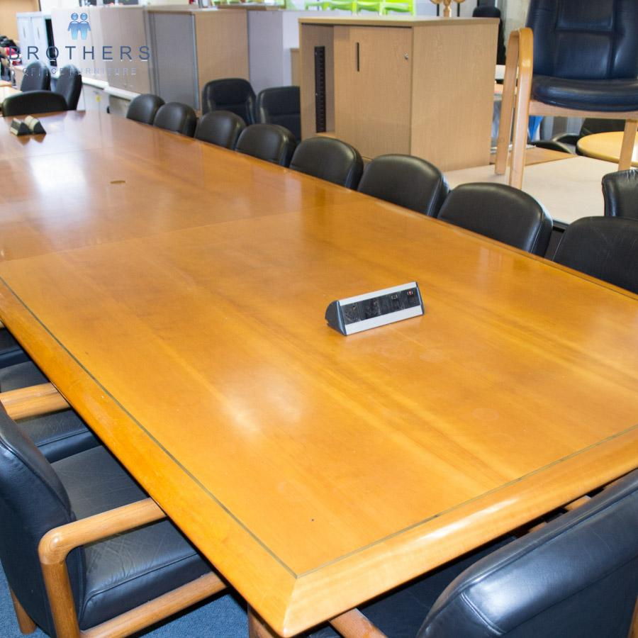 Cherry Veneer 5400x1600 Boardroom Table