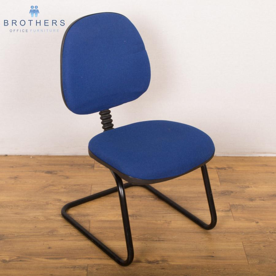 Blue Cantilever Meeting Chair