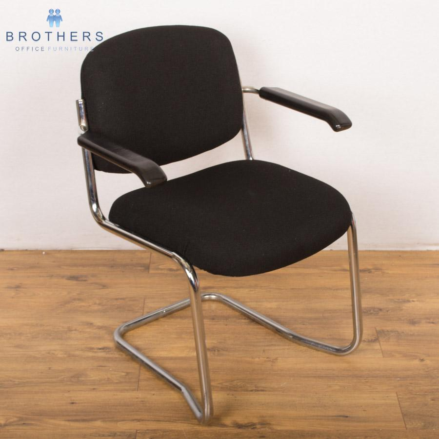 Chrome Frame Cantilever Meeting Chair