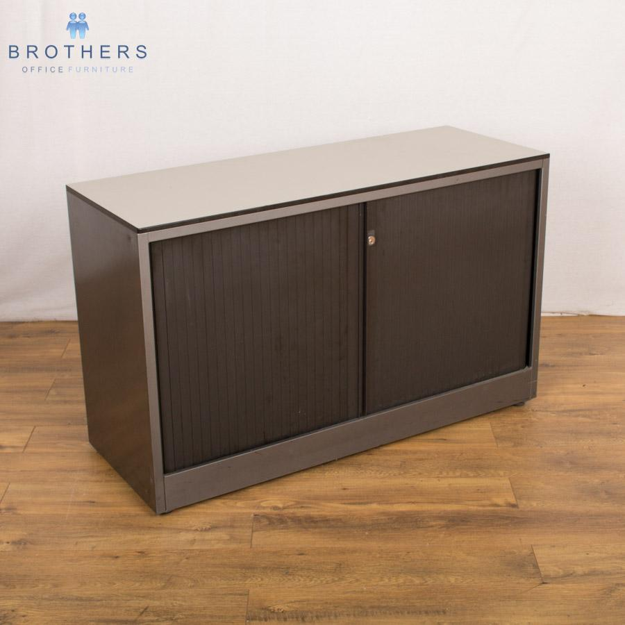 Property Brothers Two Tone Kitchen Cabinets: Ahrend 2 Tone Grey 725H Tambour Cupboard