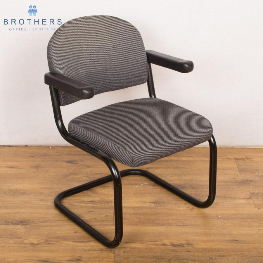 Black Cantilever Meeting Chair with Arms